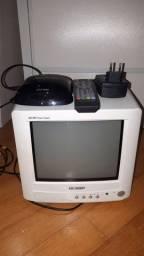 TV compacta SEMP AM FM com decodificador