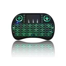 Mini Teclado Com LED Controle Keybord com Token para PC Notebook Smart TV Tv Box Games