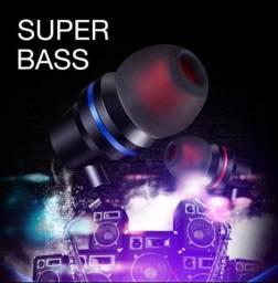 Fone de ouvido super bass