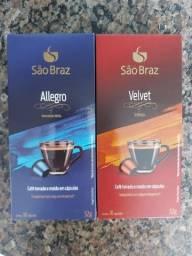 Café em Cápsulas São Braz - Allegro e Velvet 52g - Nespresso.