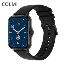 """Smartwatch Bluetooth Colmi P8 Plus Preto 1.69"""" Lançamento 2021"""