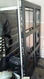Fogão industrial 06 bocas 50x50cm sem forno centro de cozinha Metalmaq