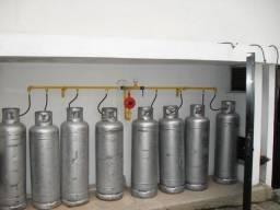 Montagens de centrais de gás LP