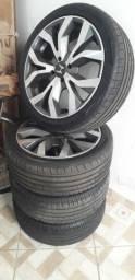 Título do anúncio: Vendo jogo de rodas com pneus semi novos aro 17
