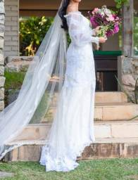 vestido de noiva feito à mão