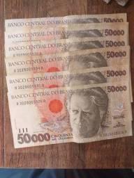 Sedulas Antigas de 50.000 Cruzeiros