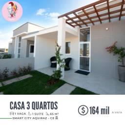 Casa com 3 quartos, 65,08 m², à venda por R$ 164.000