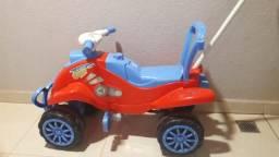Quadriciclo /Motoca Cross Calesita Azul - Vermelho - Menino