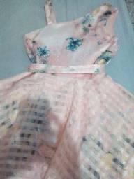 Vestido de festa 8 a 10anos- usado 1 vez
