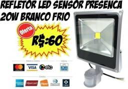 Refletor 20w Com Sensor De Presença