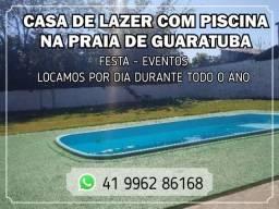 Casa com piscina praia Guaratuba