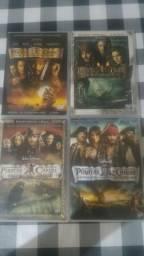 Colecao DVD Piratas do Caribe