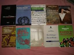 10 livros de Serviço Social, super conservados