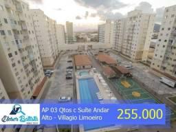 AP 03 Qtos c Suíte, Andar Alto - Cond. Villagio Limoeiro