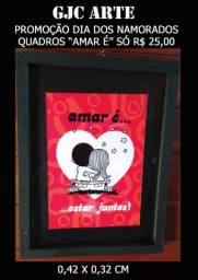 Quadros Decorativos Amar é GJC Arte