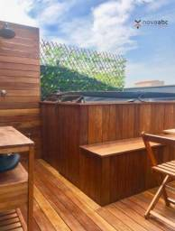 Cobertura sem condomínio com 2 dormitórios à venda, 50 m² por R$ 445.000 - Utinga - Santo