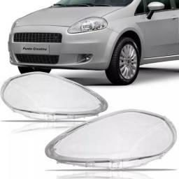 Lente Farol Fiat Punto 2008 2009 2010 2011 2012 - Unidade