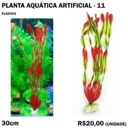 Planta Aquática Artificial - Modelo 11 - 30cm