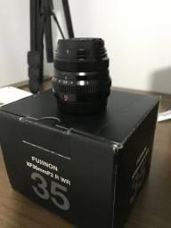 Lente Fujifilm Xf 35mm F/2 R WR (C/ Caixa e Acessórios)