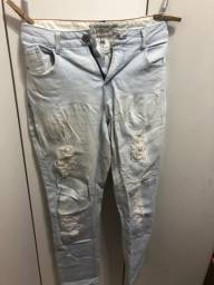 Calça Jeans C&A Rasgada tam 44
