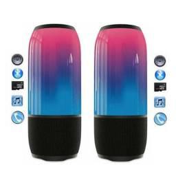 Caixinha De Som Bluetooth com Luz 360<br><br>