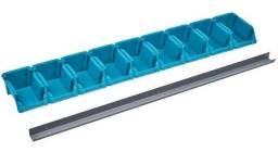 Organizador - suporte de parede com 9 gavetas.