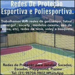Redes Esportivas e Poliesportivas, Redes de Segurança e Proteção.