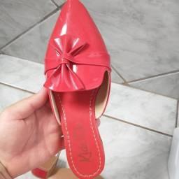 Sapato Femenino,Salto curto,N37,NOVO/ACEITO TROCAS