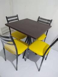 Mesa com 4 cadeiras para Lanchonetes