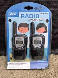 Promoção Rádio Comunicador Walkie Talkie, Alcance de até 5Km, Novo, Entregamos