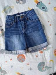 Título do anúncio: Bermuda jeans curta Cherokee Target ziper/botão de pressão/bolsos/ajuste na cintura 3 anos