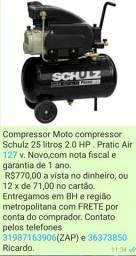 Compressor 25 litros Novo