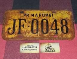 Placa Amarela Antiga de carro