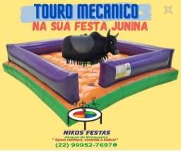 Aluguel de Touro Mecânico e brinquedos para festas juninas