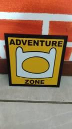 Placa Decorativa - Adventure Zone - Hora De Aventura
