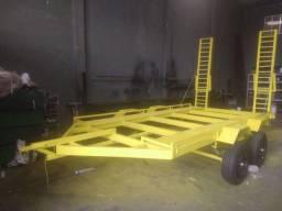 Carreta Plataforma para BOB CAT para 4.500kg