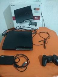 Playstation 3 desbloqueado 160 GB com HD externo de 500 GB Leia a descrição com atenção!!!