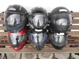 Capacetes pra motoqueiros