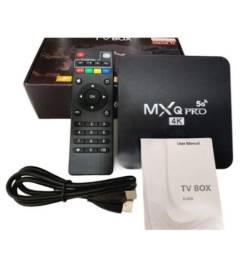 Título do anúncio: TV Box Aparelho Android 10.1 8G Ram com 128GB Rom Tv Box Mxq Pro 5g