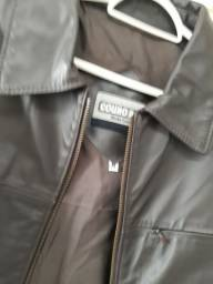 Jaqueta de couro masculina M