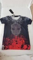 Título do anúncio: Camisetas caveira 100% algodao fio 30 penteado