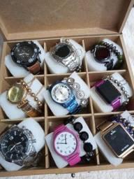 Luxo Relógio feminino maleta