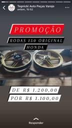 Título do anúncio: Rodas originais da Honda 150 liga leve