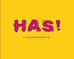 Camiseta de poliéster brancas com estampas exclusivas