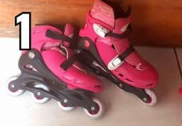 Vendo dois pares de patins 400 reais (leia a descrição)