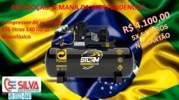 Título do anúncio: Compressor de ar 15 pés 175L 140lbs Monofasico Pressure