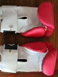 Par de luvas de boxe adulto feminina tam. 8