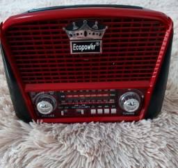 Rádio Retrô com Bluetooth, Usb, Rádio