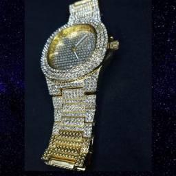 Relógio ice Gold cravejado Novo