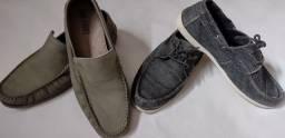 Sapato Mocassim 2 pares  n° 40